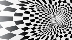 黑白抽象传染媒介隧道 库存照片