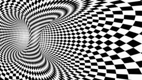 黑白抽象传染媒介隧道 图库摄影