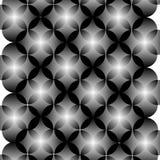 黑白抽象几何圈子无缝的样式,传染媒介 库存图片