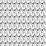 黑白抽象无缝的模式 免版税库存照片