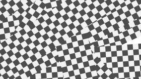 黑白方格的几何抽象录影动画