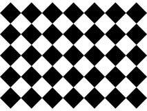 黑白方格的地垫 皇族释放例证