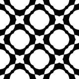 黑白无缝的几何样式 库存例证