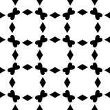 黑白无缝的几何样式 免版税库存照片