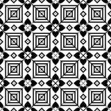 黑白无缝的几何样式 免版税图库摄影