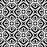 黑白无缝的几何样式 库存图片