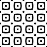 黑白无缝的几何样式 图库摄影