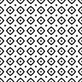 黑白无缝的几何样式 免版税库存图片