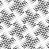 黑白无缝的弯曲的样式 库存照片