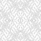 黑白无缝的弯曲的样式 向量例证