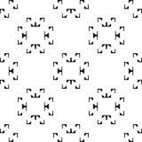 黑白无缝的弯曲的样式 免版税库存照片