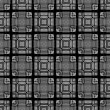 黑白无缝的样式几何衬里 免版税图库摄影