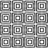 黑白无缝的种族样式 免版税库存图片