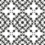 黑白无缝的种族样式 免版税图库摄影