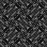 黑白无缝的种族Boho样式 Ikat 背景f 库存照片