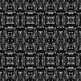 黑白无缝的种族Boho样式 Ikat 背景f 免版税库存照片