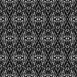 黑白无缝的种族Boho样式 Ikat 背景f 免版税图库摄影