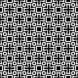 黑白无缝的装饰元素 免版税库存照片