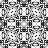 黑白无缝的重复的传染媒介样式 免版税库存图片