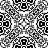 黑白无缝的重复的传染媒介样式 库存照片