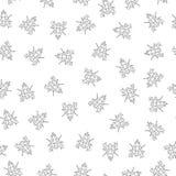 黑白昆虫的传染媒介无缝的样式 库存例证