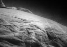 黑白沙漠小山风景背景 图库摄影