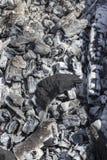 黑白煤炭 免版税库存照片