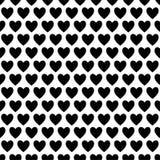 黑白爱心脏 库存例证