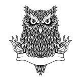 黑白猫头鹰的概念 图库摄影