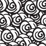 黑白玫瑰开花无缝的数字式手拉的墨水样式 用不同的乱画的海报织品的,包裹 向量例证