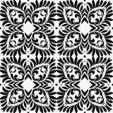 黑白瓣无缝的样式背景例证 向量例证