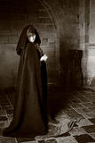 黑白的吸血鬼妇女 图库摄影