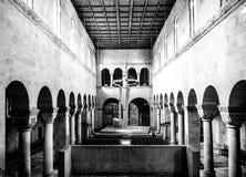 黑白的奎德林堡教会 免版税图库摄影