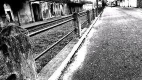 黑白的街道 免版税图库摄影