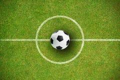 黑白皮革橄榄球的综合图象 免版税库存图片