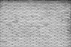黑白砖墙纹理和背景 免版税图库摄影