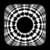 黑白箭头 圆运动 图库摄影