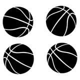 黑白篮球传染媒介例证集合 库存照片