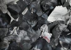 黑白纸被撕毁的张单色背景  库存图片