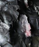 黑白纸被撕毁的张单色背景  免版税图库摄影