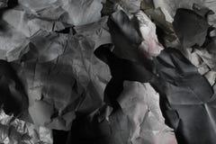 黑白纸被撕毁的张单色背景  图库摄影