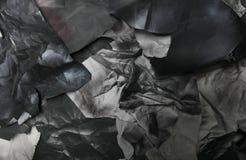 黑白纸被撕毁的张单色背景  免版税库存照片