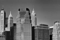 黑白纽约的地平线 库存照片