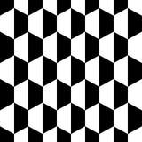 黑白色蜂窝六角形无缝的背景 也corel凹道例证向量 向量例证