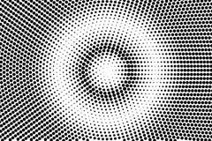 黑白色被集中的被加点的梯度 中间影调背景 库存例证