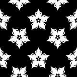 黑白花饰 无缝的模式 免版税库存照片