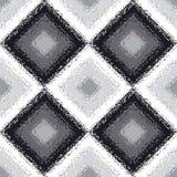 黑白菱形地毯无缝的样式 向量例证