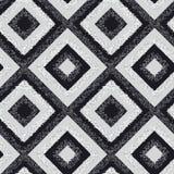 黑白菱形地毯无缝的样式 库存例证