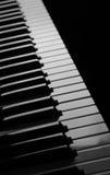 黑白钢琴 免版税库存照片
