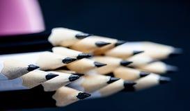 黑白铅笔提高的技巧  免版税库存照片